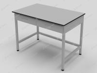 Стол лабораторный с двумя выдвижными ящиками