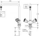 Смеситель прямой со штуцером/аэратором для установки в стол
