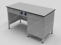 Cтол лабораторный с двумя выдвижными ящиками, дверцей и розетками