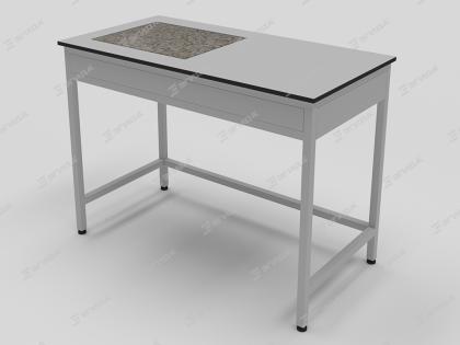 Стол лабораторный антивибрационный со встроенной гранитной плитой