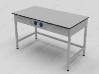 Стол лабораторный с двумя выдвижными ящиками и розетками