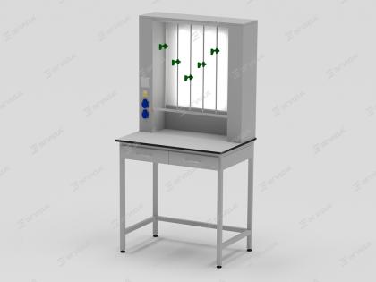 Титровальная лабораторная установка со световым  экраном (матовое оргстекло)